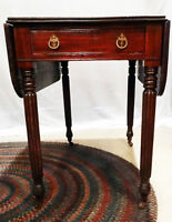 Antique Furniture - Mahogany one drawer Pembrooke table