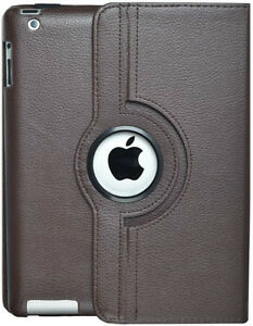 BROWN 360 ROTATING PU LEATHER CASE COVER WITH STAND FOR IPAD AIR Regina Regina Area image 7