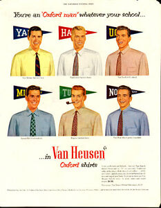 1952 full-page (10 ¼ x 13 ¼ ) ad for Van Heusen Shirts