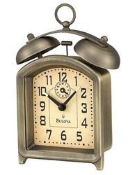 *BRAND NEW* Bulova Metal Case In An Antique Bronze Finish Clock B8128