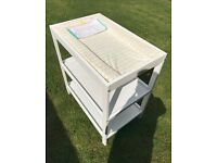 Baby change table / Mothercare / white / storage shelves