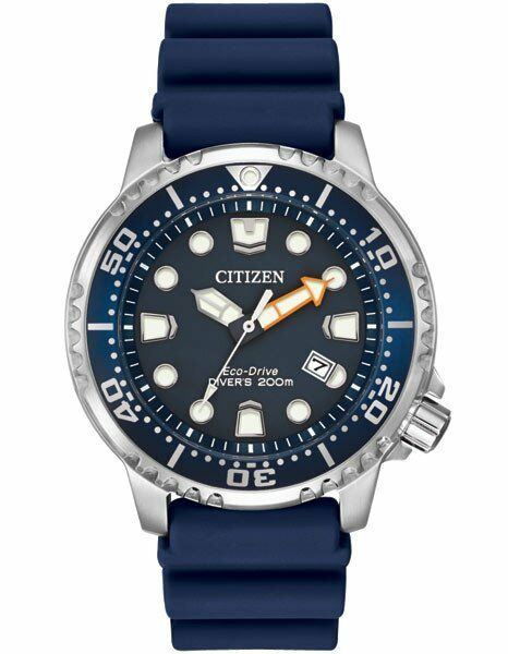 $168.00 - Citizen Eco-Drive Mens BN0151-09L Promaster ISO Dive Blue Dial & Strap Watch