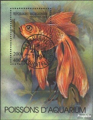 Madagaskar gestempeld 1994 Aquariumvissen