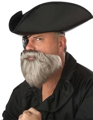 Grau Schnurrbart und Piratenkapitän-kostüm Zubehör CC70097