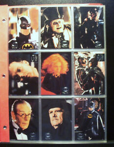 BATMAN RETURNS 1992 - TOPPS STADIUM CLUB - 100 Card Set