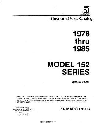 Cessna 152 Series 1978 thru 1985 Parts Catalog 1996