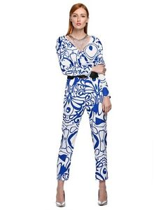 New Blue & White Zeagoo Brand Polyester full length jumpsuit XL