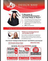 Hair and Esthetics classes.Get Free Salon furniture worth $2000