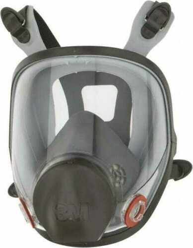 3M Series 6000 Size S Full Face Respirator 4-Point Suspension 7000002029