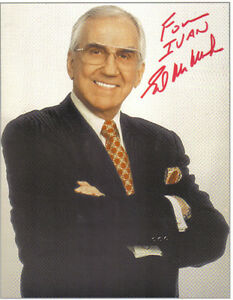 Ed McMahon Tonight Show Autog A Nice 8x10 Colour Photo London Ontario image 1