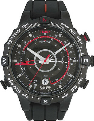 Temp Compass Mens Watch - Timex Mens Tide Temp and Compass watch T2N720 , Indiglo Night Light, 100M WR