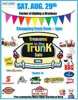 Treasures in the Trunk Sale & BBQ Aug. 29 at DC3 Westway