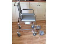 Height Adjustable AIDAPT Wheeled Chair with Commode, VR231, Hardly Used, Cost £120 new