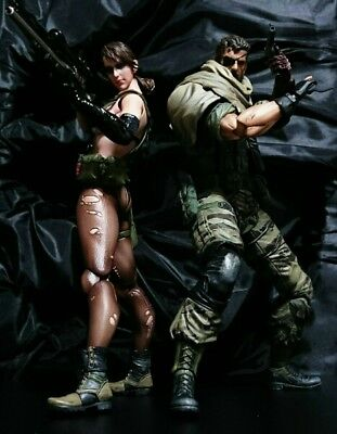 PLAY ARTS Kai METAL GEAR SOLID V THE PHANTOM PAIN Snake & Quiet Figure set F/S, used for sale  Shipping to Canada