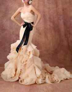 High quality Wedding Dress @$299 ONLY (custom made & brand new) London Ontario image 1