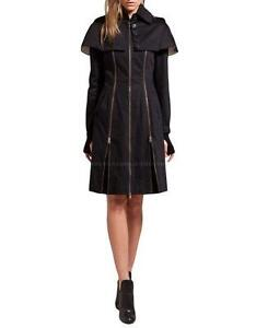 McQ-Alexander-McQueen-Cape-Trench-Coat-Military-Jacket-IT-38-US-2-UK-6-NWT-860