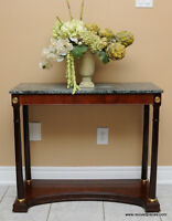 Marble Top Hall Table / Console by Bombay & Co.