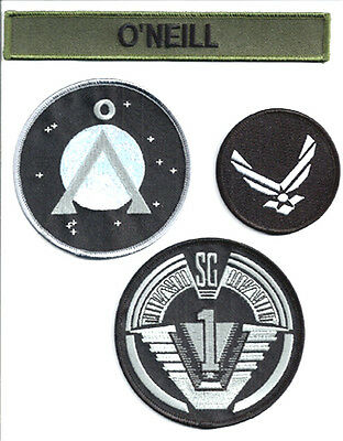 STARGATE - SG -1 - O´Neill Set Uniform Patch- Aufnäher original Replica 4-teilig