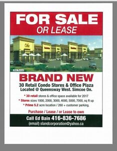 Stores in future plaza for lease