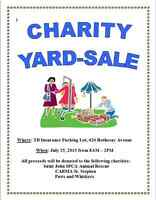 Charity Yard Sale July 25th **No Set Prices-Sale By Donation**