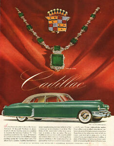 Large full-page color magazine ad for 1949 Cadillac