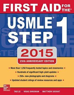 First Aid Textbook - First Aid for the USMLE Step 1 2015 (First Aid USMLE)