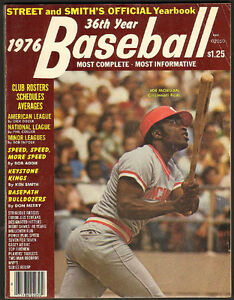 1976 Street and Smith's Baseball Yearbook - Joe Morgan cover