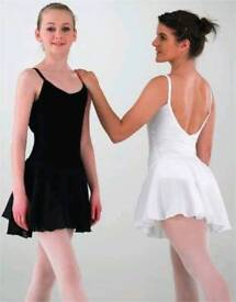 BLACK CAMISOLE BALLET DRESS - ADULT SIZE 10 - BRAND NEW