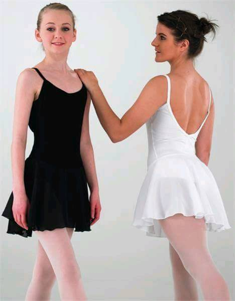 BLACK CAMISOLE BALLET DRESS - ADULT SIZE 10 - BRAND NEW