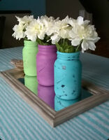 Painted and Distressed Jars