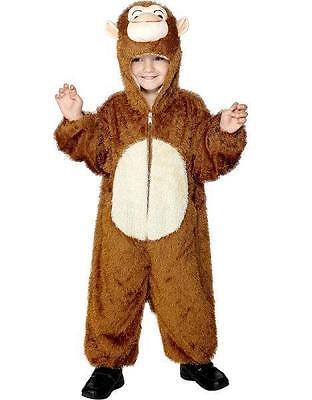 Kinder Kostüm Affen-Kostüm Büchertag Mädchen Jungen Anzug 7-9 Jahre Neu Smiffys
