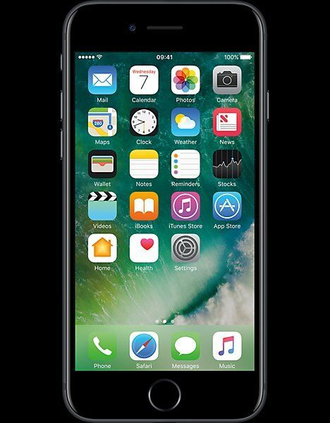 apple iphone 7 32gb black... factory sealed still