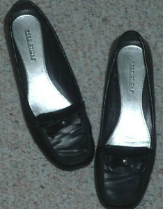 black slip on shoes as shown ...size 7