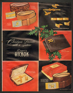 1948 original, full-page, color, print ad for Hickok Products