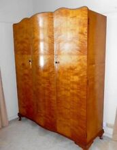 1940s 4 pc Vintage Bedroom Suite in Burnished Flamed Walnut Robina Gold Coast South Preview