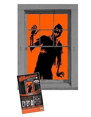 Wow Window Posters, Zombie Halloween Window Decoration, 36