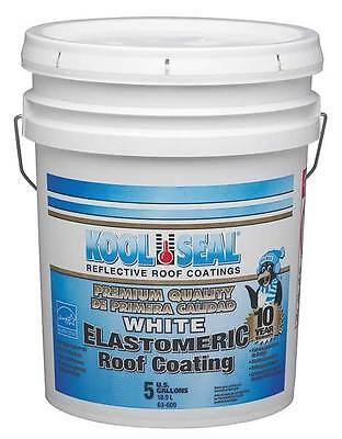 KST COATINGS KST063600-20 Elastomeric Roof Coating, White, 4.75 gal.