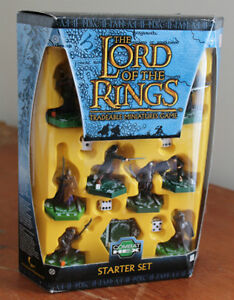 Lord Of The Rings Tradeable Miniatures Game Starter Set NEW
