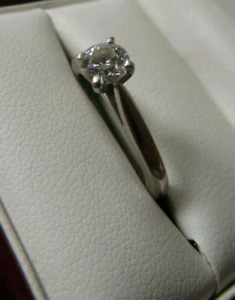 Blue Nile Engagement Ring and Matching Wedding Band