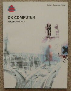 "Radiohead ""OK Computer"" Guitar Tab book & 2 x VHS tapes"