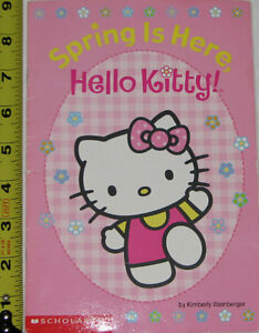 Hello Kitty Spring is Here Book & 6 Toy Figures (Lot # 4) London Ontario image 1