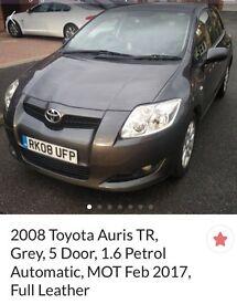 2008 Toyota Auris TR, 1.6 petrol Automatic