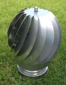 Brand new rotating chimney cowl, 316 grade stainless