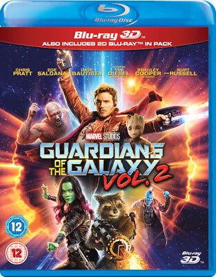 Guardians Of The Galaxy Vol 2 3D  Br3d  Region Free  Marvel  Pratt  Diesel  New