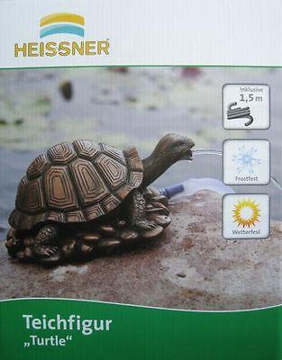 """HEISSNER Teichfigur Wasserspeier Figur Speier """"Schildkröte""""  28 cm NEUWARE"""