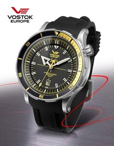 Vostok Europe Anchar Submarine Automatic Silver/Black/Yellow Watch NH35A/5105143