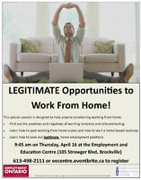 Learn How to Work From Home Legitimately at EEC!