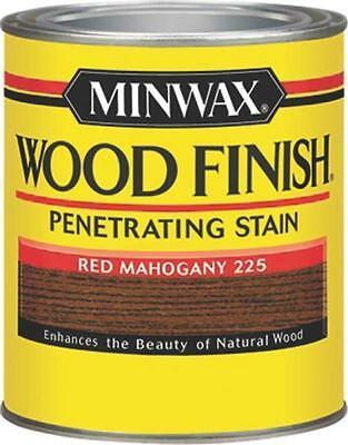 NEW MINWAX 22250 RED MAHOGANY INTERIOR OIL BASED WOOD FINISH STAIN 7969462 Mahogany Finished Base