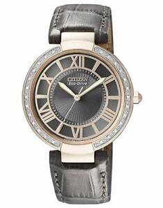 Citizen Eco-Drive Ladies Diamond Watch - leather band Sydney City Inner Sydney Preview