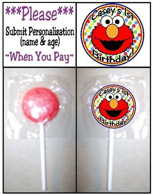 24 Elmo Birthday Party Baby Shower Lollipop Stickers Invitation Seals Labels